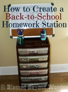 Get ready for back to #school with a variety of options for #homework organization stations.