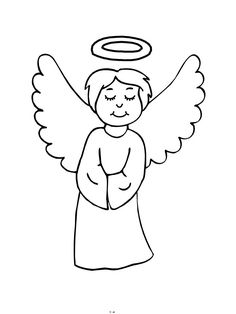 angels, : little angels with christmas tree ball coloring page ... - Coloring Pages Angels Kids