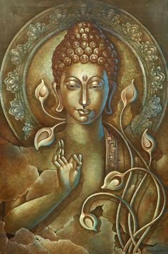 """""""Radiate boundless love towards the entire world — above, below, and across — unhindered, without ill will, without enmity."""" – ~ The Buddha Lotus Buddha, Art Buddha, Buddha Zen, Buddha Painting, Buddha Buddhism, Buddhist Art, Mural Painting, Mural Art, Buddha Meditation"""