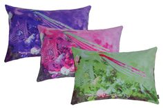 Still (A)life pillows. Purple, pink and green combinations.