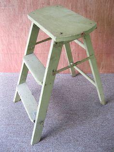Antique 3-Step Stool Primitive Stepstool Wood Ladder Stand Light Green Paintu2026 & Vintage Aqua Primitive 3-Step Stool Ladder Wood Old Farmhouse ... islam-shia.org
