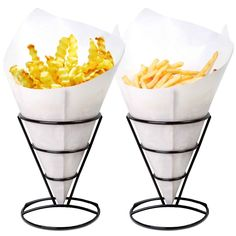 Amazon.com: 1 X 2 French Fry Stand Cone Basket Holder by Cobble Creek for Fries Chips Appetizers: Industrial & Scientific