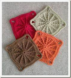 Tutorial for these crochet granny squares - might need to use google translate #crochet #tutorial