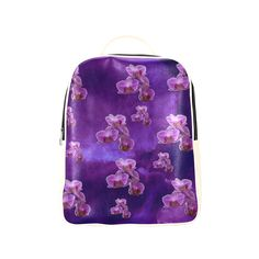 Purple Orchids Popular Backpack (Model 1622)