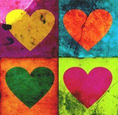 des coeurs à la Warhol