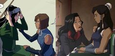 Korra Avatar, Team Avatar, Kora And Asami, Korra Comic, Asami Sato, The Last Avatar, Avatar World, Avatar Series, Korrasami