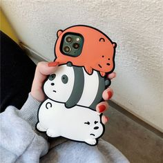 3d Iphone Cases, Girly Phone Cases, Iphone Case Covers, Funny Toys, Funny Cartoons, Best Iphone, Iphone 11, We Bare Bears, Cute Cases