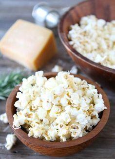 8. Parmesan-Garlic Popcorn
