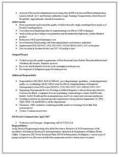 excellent and professional assistant manager resume sample doc 2