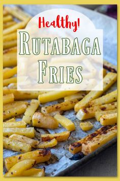 This is roasted rutabaga fries on a sheet pan is super low calorie and low carb while being super high on the deliciousness scale! Roasts in 20 minutes for incredibly sweet fries! #rutabagafries #rutabaga Roasted Beets And Carrots, Roasted Rutabaga, Vegetable Dishes, Vegetable Recipes, Rutabaga Recipes, Roasted Mediterranean Vegetables, Low Carb Side Dishes, Sprout Recipes, Roasts