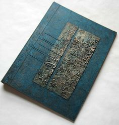 Handmade Journal Refillable Mottled Turquoise Copper Texture Patches 12x9 Original on Etsy, $81.07 AUD