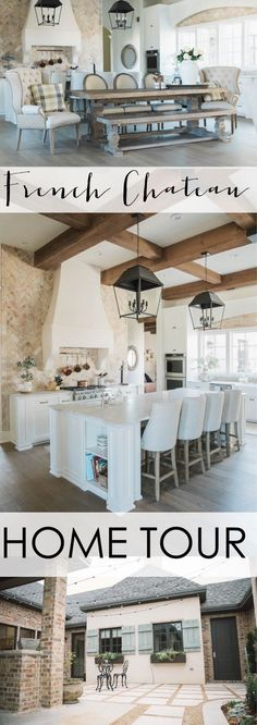 French Chateau Home Tour: check out this incredible home!! #hometour