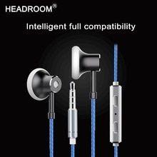 HEADROOM in-ear Earphone with Mic Sports Headset Women Man Noise Canceling  Stereo Bass Headphone for Computer iPhone xiaomi - SmartPholexShop d94629e7358f