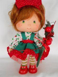 Custom Strawberry Shortcake Holiday Doll Winterberry