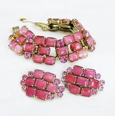 RESERVED Juliana Delizza and Elster Pink by AgedandOpulentJewels