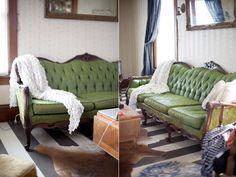 I Love Today: {my sofa got a paint job}