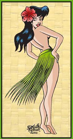 "Tiki Art Girls | Hula Girls and Tiki Gods: ""Island Girl"""