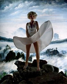 Diana Thorneycroft, Wanderer above a Sea of Ice (Marilyn), C print, 2012