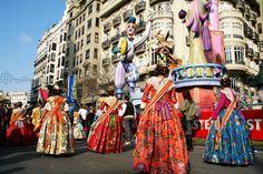 Valencia, Spanje, Las Fallas festival