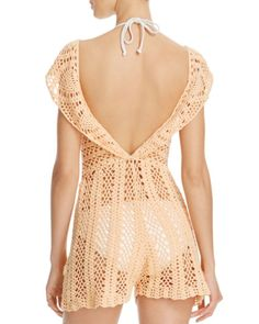 MINKPINK Color Me Crochet Lacey Dress Swim Cover Up