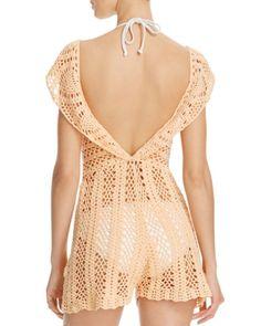 MINKPINK Color Me Crochet Lacey Dress Swim Cover Up