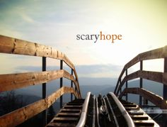Real hope doesn't show up without real fear. Most of the time, hope is scary. - Emily Freeman