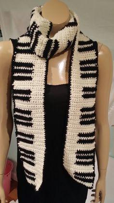 Keyboard Scarf - free pattern from Lori Baker Crochet.