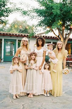 beautiful boho bridal party // photo by Braedon Photography