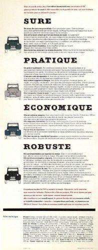 1963 citroen 2cv brochure