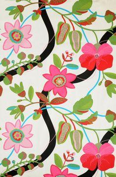 Saga Almedahls /Eurokangas Scandinavian Pattern, Textile Design, Folk Art, Printing On Fabric, Layout, Textiles, Prints, Beautiful, Patterns