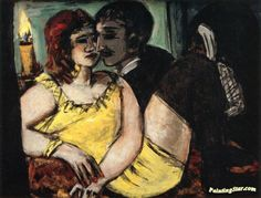 Amorous Couple Artwork by Max Beckmann Hand-painted and Art Prints on canvas for sale,you can custom the size and frame