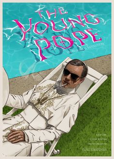"Behance :: Editing ""The Young Pope"" poster"