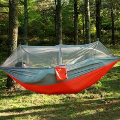 Tuin Opknoping Nylon Bed en Klamboe Outdoor Reizen Jungle Camping Tent Hangmat Camping Swing Opknoping Bed 4 Kleur 260*140 CM