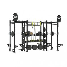 An incredible solution that provides  #accessorystorage #weightplatestorage #liftingstations #battleropeanchor #Olympicbarstorage and #groundrotationaltrainers!   Learn more about our X-RACK packages!  XRS-4-14-X1