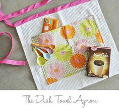 dish towel apron tutorial by Pink Pistachio