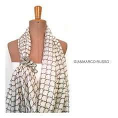 Stola Gioiello in seta By Gianmarco Russo - limited edition - handmade -