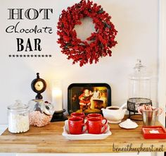 Hot Chocolate Bar {Our New Christmas Tradition} | Beneath My Heart