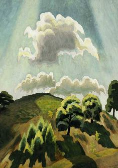 Charles Burchfield Hill Top at High Noon, 1925 Source: GG Art Land and Sea Claude Monet, Landscape Art, Landscape Paintings, Landscapes, Painting & Drawing, Watercolor Paintings, Watercolor Ideas, Watercolors, Pablo Picasso
