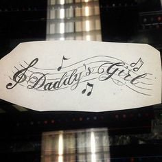 Want a daddy's girl mama's world tattoo Rip Tattoos For Dad, Kiss Tattoos, Dad Tattoos, Tattoos For Daughters, Music Tattoos, Body Art Tattoos, Cool Tattoos, Tatoos, Memorial Tattoo Quotes