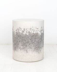 Cement and quartz drum table by Fernando Mastrangelo