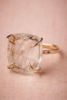 loving the rawness of this ring. Slice of Sky Ring from BHLDN