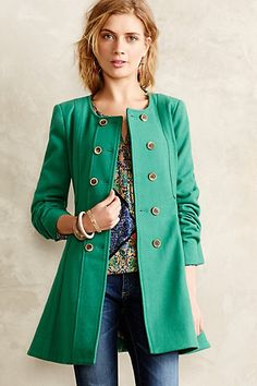 Not sure I actually look good in green, but this.  Parker Peacoat - anthropologie.com