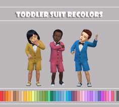 Simsworkshop: Toddler Suit Recolors by maimouth • Sims 4 Downloads  Check more at http://sims4downloads.net/simsworkshop-toddler-suit-recolors-by-maimouth/