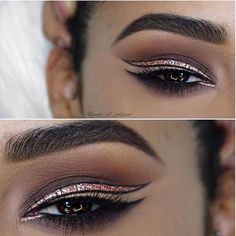 We are in love with this negative space liner look by @pop_of_colour! So pretty! #MakeupAddictionCosmetics