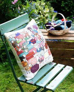 Colourful Sheep cushion, £40, Mary Kilvert.