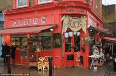 Vintage shopper's dream: She visited Alice's, an antique dealer which specialises in decorative furniture from a range of periods