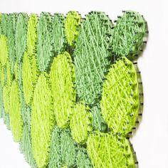 Vypletané machy StringArt 120 x 50 Moss Art, Cactus Plants, Crochet Earrings, How To Make, Jewelry, Jewlery, Bijoux, Schmuck, Jewerly