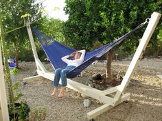 homemade hammock stand