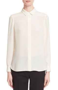 Burberry London 'Aster' Mulberry Silk Blouse available at #Nordstrom