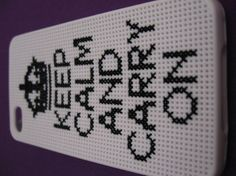 cross stich i phone cases | Cross Stitch Keep Calm Carry On Iphone 4 Case - handstitchedbyaylin ...